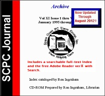 SCPC Journal Archive CD-ROM